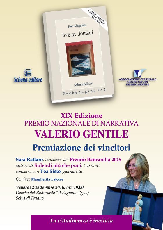 Premio Valerio Gentile 2016 corretto